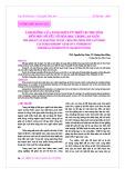 Ảnh hưởng của xung điện từ thiết bị thu tôm đến một số yếu tố hóa học trong ao nuôi