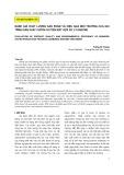 Đánh giá chất lượng sản phẩm và hiệu quả môi trường của qui trình sản xuất chitin cải tiến kết hợp xử lý enzyme