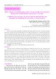 Thực trạng sản phẩm khai thác của ba nghề: Nò Sáo, đáy, rê ba lớp tại đầm phá Tam Giang - Cầu Hai
