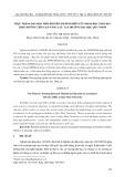 Thực trạng dạy học môn phương pháp nghiên cứu khoa học giáo dục theo hướng tiếp cận năng lực tại Trường Đại học Quy Nhơn