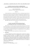 Learning english listening comprehension: Perceptions of non English majors at Quy Nhon university