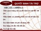 Bài giảng Quản trị tài chính doanh nghiệp: Chương 5 - Nguyễn Thị Oanh