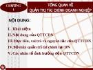 Bài giảng Quản trị tài chính doanh nghiệp: Chương 1 - Nguyễn Thị Oanh