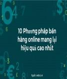 10 phương pháp bán hàng online mang lại hiệu quả cao nhất