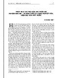 Phát huy vai trò của trí thức nữ huyện Nhà Bè - TP. Hồ Chí Minh thời kỳ công nghiệp hóa, hiện đại hóa đất nước