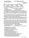 Đề kiểm tra 1 tiết môn tiếng Anh lớp 12 năm 2018-2019 - THPT Bến Tre - Mã đề 315