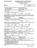 Đề kiểm tra chất lượng giữa HK1 môn Vật lí lớp 12 năm 2018-2019 - THPT Lý Bôn - Mã đề 568