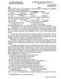 Đề kiểm tra 1 tiết môn tiếng Anh lớp 12 năm 2018-2019 - THPT Bến Tre - Mã đề 267