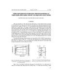 Tổng hợp điện hóa dung dịch peroxocacbonic và triển vọng ứng dụng của nó cho mục đích khử trùng