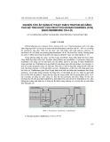 Nghiên cứu áp dụng kĩ thuật diafiltration để nâng cao độ tinh khiết của fructooligosaccharides (FOS) bằng membrane DS-5-DL