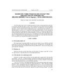 Nghiên cứu thành phần hóa học và hoạt tính sinh học của cây song môi tàu [Miliusa sinensis finet et gagnep.], họ na (annonaceae)