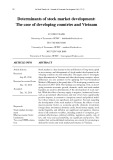 Determinants of stock market development: The case of developing countries and Vietnam