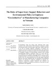 "The roles of supervisory support behaviors and environmental policy in employee ""Eco initiatives"" at manufacturing companies in Vietnam"