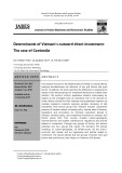 Determinants of Vietnam's outward direct investment: The case of Cambodia