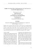 Nghiên cứu sự hấp thu cạnh tranh giữa Cd2+ và Pb2 lên cây rau bó xôi (Spinacia oleracea L.)