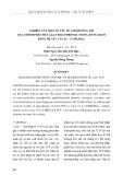 Nghiên cứu một số yếu tố ảnh hưởng tới quá trình phân hủy 2,4,6 triclophenol trong dung dịch bằng hệ xúc tác Fe - TAML/H2O2