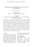 Đánh giá khả năng hấp phụ Fe(III), Cr(VI) của các vật liệu đá ong biến tính
