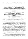 Phân tích và đánh giá pha liên kết của kim loại nặng trong trầm tích cột thuộc hệ thống sông tỉnh Hải Dương