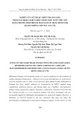 Nghiên cứu kỹ thuật chiết pha rắn (SPE) nhằm xác định salbutamol trong mẫu nước tiểu lợn bằng phương pháp điện di mao quản sử dụng detector độ dẫn không tiếp xúc (CE-C 4D)
