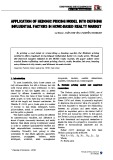 Application of hedonic pricing model into defining influential factors in HCMC - based realty market