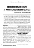 Measuring service quality at Wan Hai lines outbound services