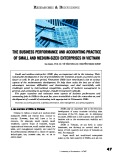 The business performance and accounting practice of small and medium-size enterprises in Vietnam