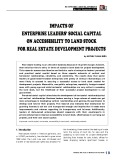 Impacts of enterprise leaders' social capital on accessibility to land stock for real estate development projects