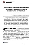 Developing an accounting model for small and medium-sized enterprises in Vietnam