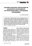 Factors affecting application of accounting standards in Đà Nẵng based small and medium enterprises