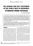 The demand for self-treatment in the public health insurance: Evidence from Vietnam