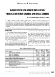 An inquiry into the development of SMEs in Vietnam: The roles of human capital and social capital