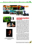 The 2010 monetary policy and orientations for the year 2011