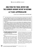 Analyzing the fiscal deficit and the current account deficit in Vietnam a var approach