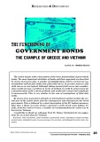 The functioning of government bonds the example of Greece and Vietnam