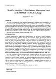 Model for identifying profit adjustment of enterprises listed on Ho Chi Minh city stock exchange