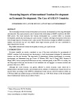 Measuring impacts of international tourism development on economic development: the case of ASEAN countries