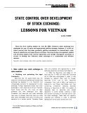 State control over development of stock exchange: Lessons for Vietnam