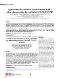 Nghiên cứu cấu trúc electron của cluster ScSi4 −/0 bằng phương pháp đa cấu hình CASSCF/CASPT2