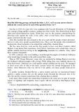 Đề thi KSCL môn tiếng Anh lớp 12 năm 2018-2019 - THPT Quang Hà - Mã đề 856