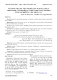Xây dựng phương pháp định lượng acid oleanolic trong đinh lăng lá xẻ [polyscias fruticosa (L.) harms.] bằng sắc ký lỏng hiệu năng cao