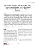 Cấu trúc tuổi và sự phát triển của cá phèn trắng - Polynemus dubius Bleeker, 1851 (Polynemidae) ở hạ lưu hệ thống sông Sài Gòn - Đồng Nai