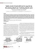 Nghiên cứu hệ số chuyển đổi vận tốc xung siêu âm theo phương pháp đo góc về phương pháp đo xuyên