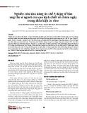Nghiên cứu khả năng ức chế 5 dòng tế bào ung thư ở người của cao dịch chiết rễ chùm ngây trong điều kiện in vitro