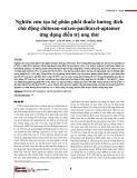 Nghiên cứu tạo hệ phân phối thuốc hướng đích chủ động chitosan-mixen-paclitaxel-aptamer ứng dụng điều trị ung thư
