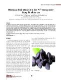 Đánh giá khả năng xử lý ion Ni2+ trong nước bằng đá nhân tạo