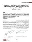 Nghiên cứu thực nghiệm hiệu quả gia cường dầm bê tông cốt thép chịu xoắn bằng vật liệu tấm sợi các bon CFRP
