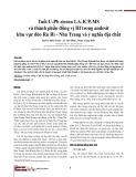 Tuổi U-Pb zircon LA-ICP-MS và thành phần đồng vị hf trong andesit khu vực đèo Rù Rì - Nha Trang và ý nghĩa địa chất