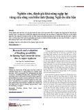Nghiên cứu, đánh giá khả năng ngập lụt vùng cửa sông ven biển tỉnh Quảng Ngãi do siêu bão