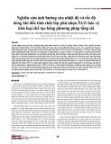 Nghiên cứu ảnh hưởng của nhiệt độ và tốc độ dòng khí đến tính chất lớp phủ nhựa PA11 bảo vệ kim loại chế tạo bằng phương pháp tầng sôi