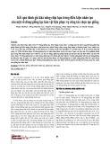 Kết quả đánh giá khả năng chịu hạn trong điều kiện nhân tạo của một số dòng/giống lạc làm vật liệu phục vụ công tác chọn tạo giống